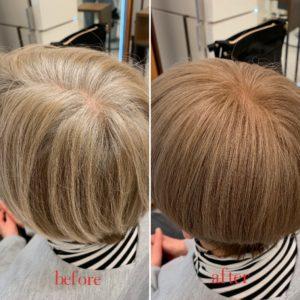 一色で白髪染めで生かすパターン
