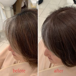 白髪をデザインとして生かすヘアカラー