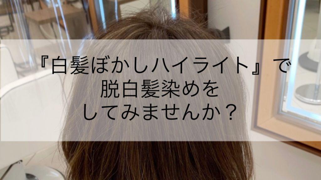 『白髪ぼかしハイライト』で脱白髪染めをしてみませんか?
